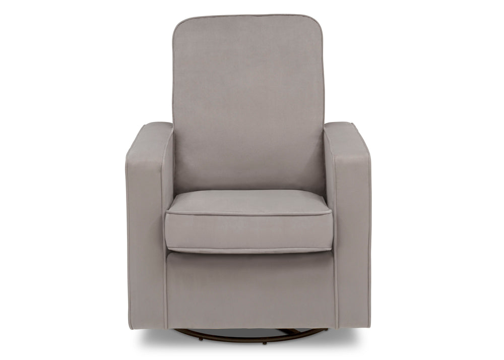 Delta Children Cloud Grey (1344) Landry Nursery Glider Swivel Rocker Chair, Front Silo b3b