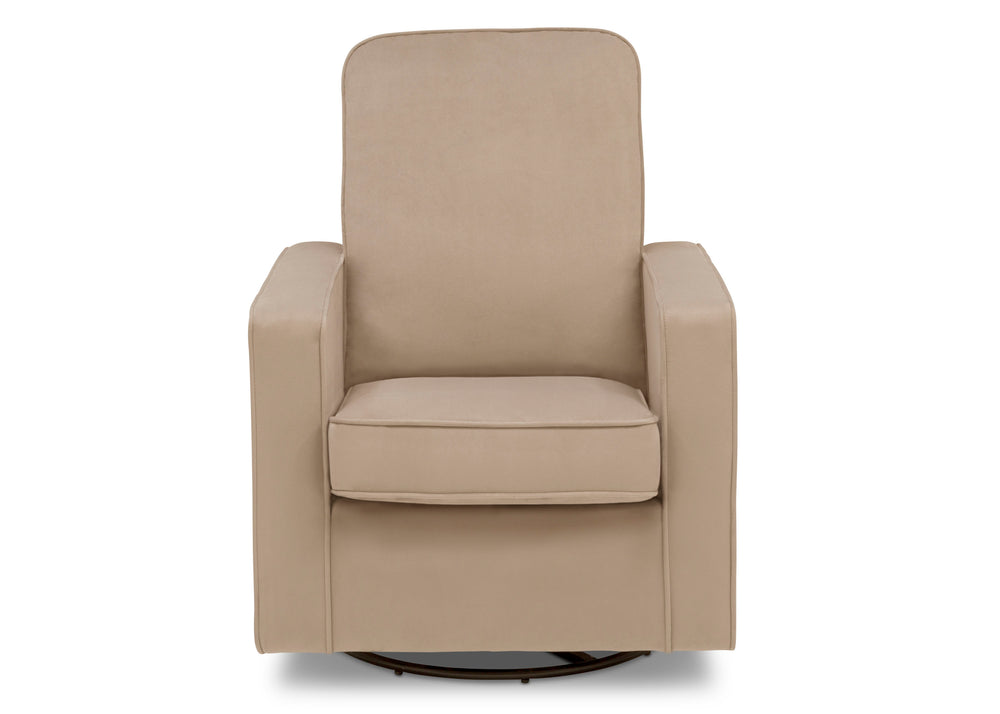 Delta Children Biscotti Beige (715) Landry Nursery Glider Swivel Rocker Chair, Front Silo a3a