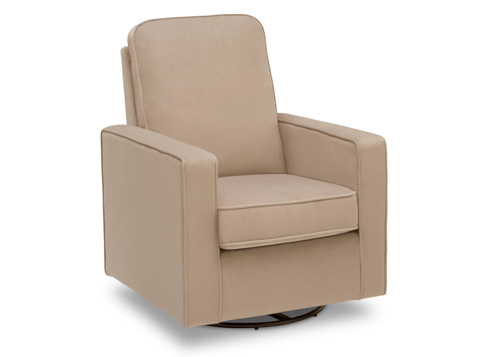 Delta Children Biscotti Beige (715) Landry Nursery Glider Swivel Rocker Chair, Right Silo a4a