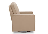 Delta Children Biscotti Beige (715) Landry Nursery Glider Swivel Rocker Chair, Side Silo a5a