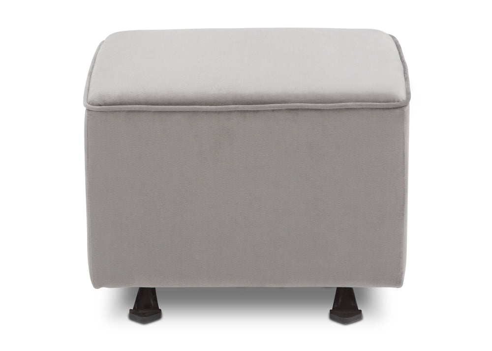 Delta Children Cloud Grey (1344) Landry Nursery Gliding Ottoman Front View a2a
