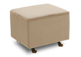 Delta Children Biscotti Beige (715) Landry Nursery Gliding Ottoman Right View b3b
