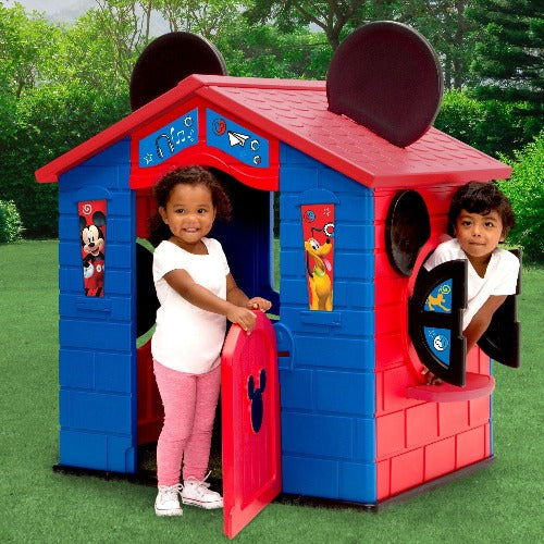 Mickey Mouse Plastic Indoor/Outdoor Playhouse with Easy Assembly