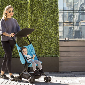 Ultimate Fold N Go Compact Travel Stroller (Aqua) - bundle