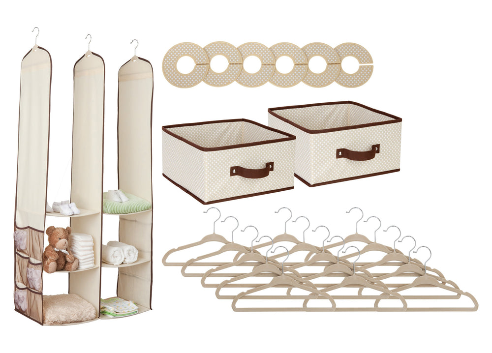 Delta Children Beige (250) 48-Piece Nursery Storage Set (SS2056), Silo, c2c