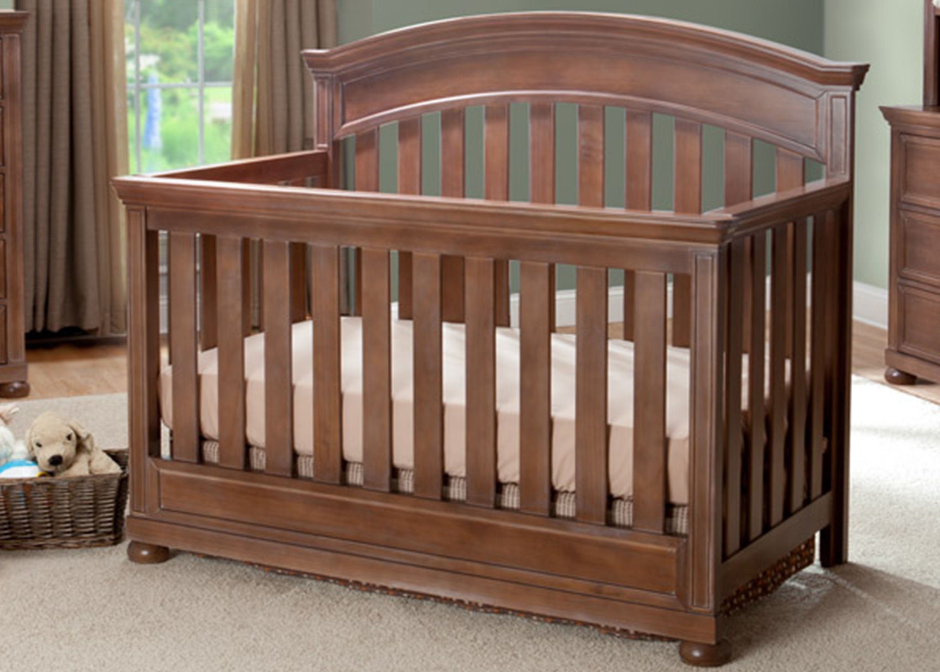 simmons nursery furniture. Simmons Kids Antique Walnut (267) Chateau Crib \u0027N\u0027 More, Room Shot Nursery Furniture 1