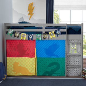 Harry Potter Loft Bed Tent - Curtain Set for Twin Loft Bed (Bed Sold Separately)