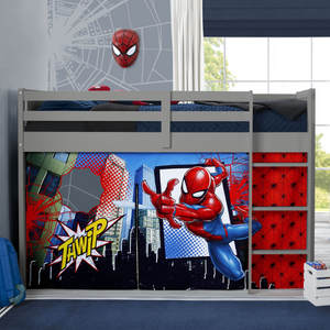 Spider-Man Loft Bed Tent - Curtain Set for Twin Loft Bed (Bed Sold Separately)