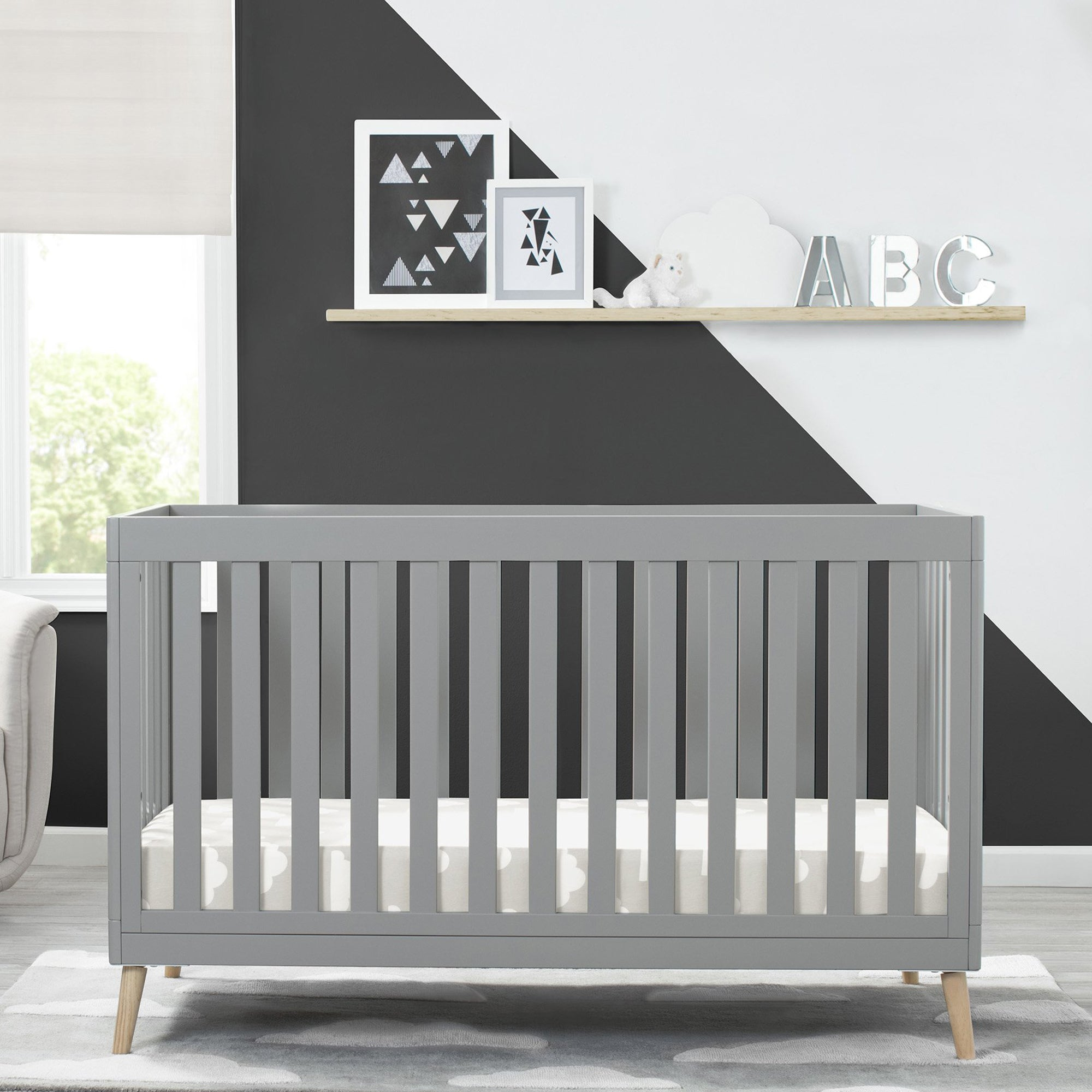 The Safest Cribs For Infants Toddlers Tagged Color Grey Delta Children
