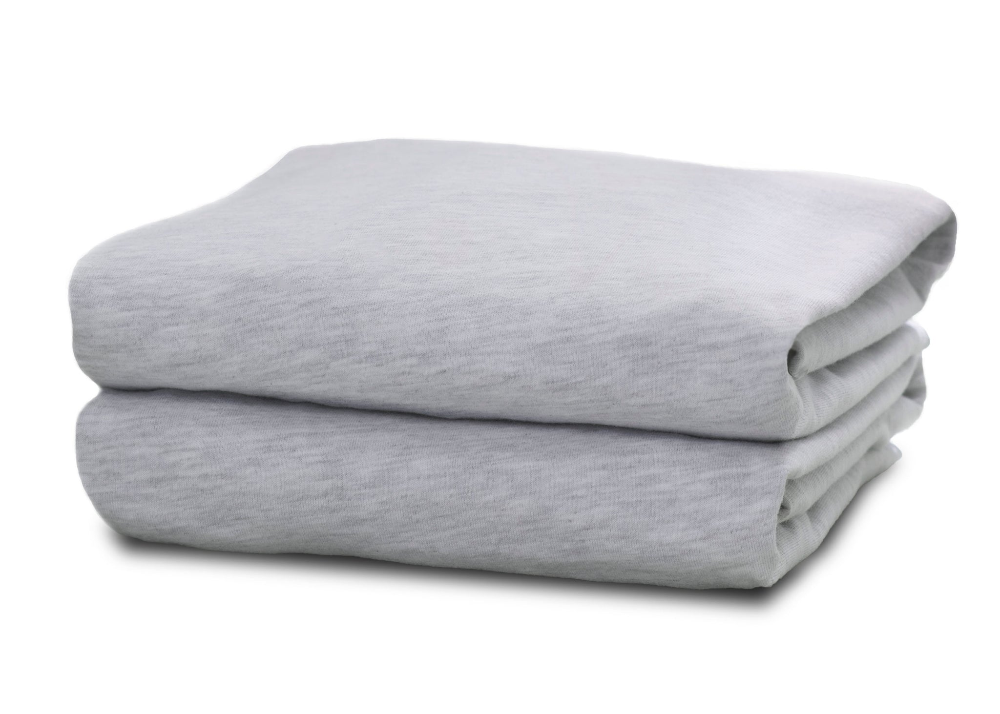 Delta Children Heather Grey (053) Fitted Bassinet Sheet Set – 2 Pack Folded View