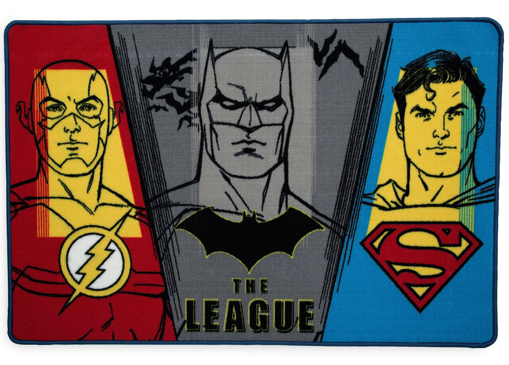Delta Children Justice League (1215) Soft Area Rug with Non-Slip Backing (TR80057JL), Silo, a2a
