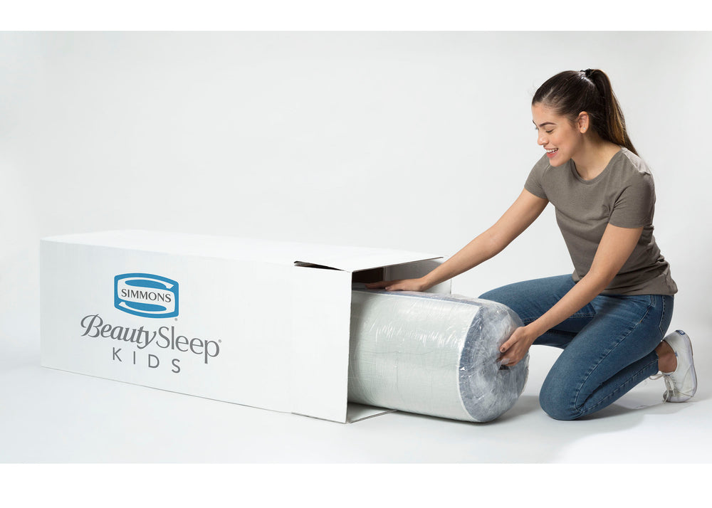 BeautySleep Full KIDS Meadowlark 6-inch Gel Memory Foam Mattress (T60100), package, a5a