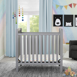 Classic Mini Crib with Mattress - Convertible to Twin Bed