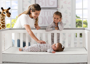Serta Perfect Sleeper Calm Days Crib and Toddler Mattress, Lifestyle View No Color (NO)