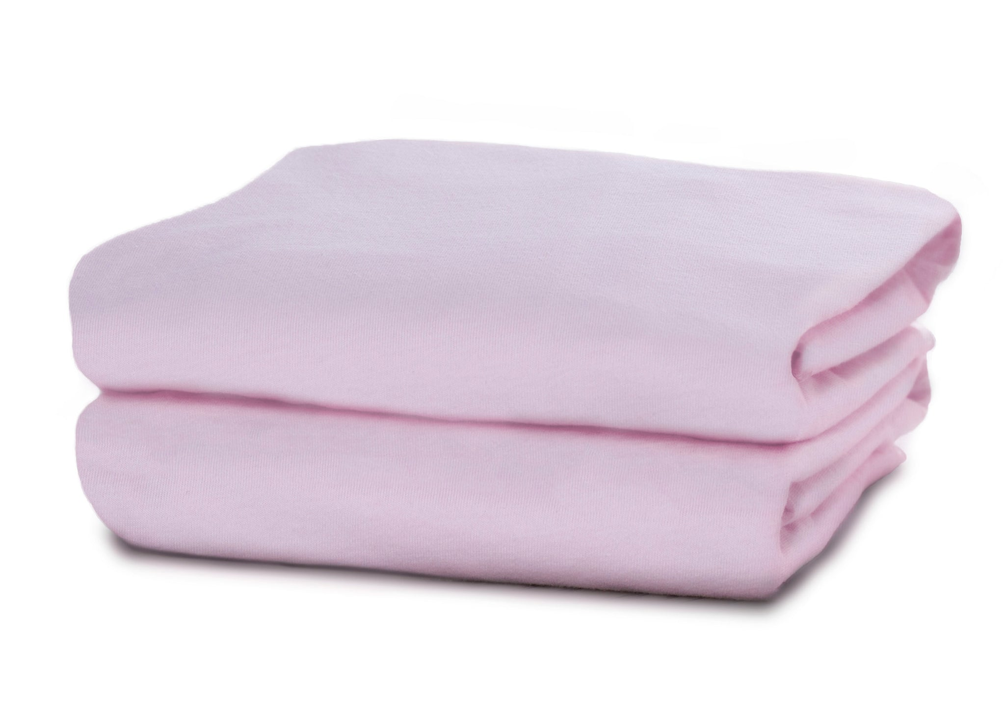Delta Children Pink (654) Fitted Crib Sheet Set – 2 Pack Folded View