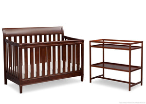 Delta Children Espresso Truffle (208) Harbor 2 Piece Room-in-a-Box c1c