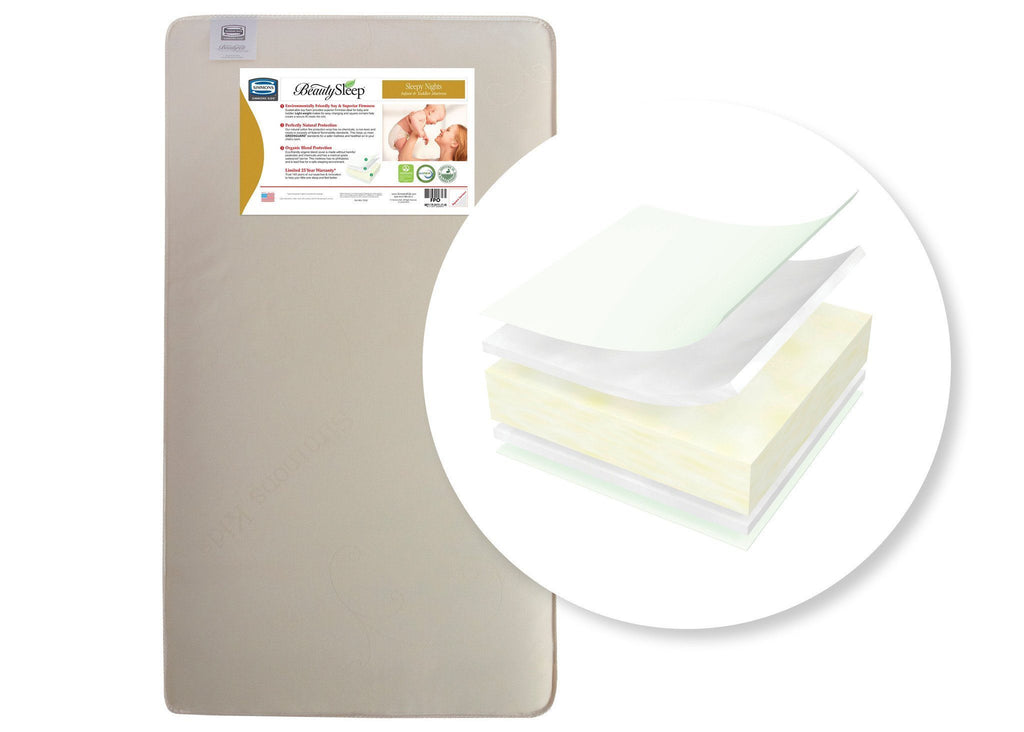 Simmons Kids Naturally Sleepy Nights Infant & Toddler Mattress Front View a1a