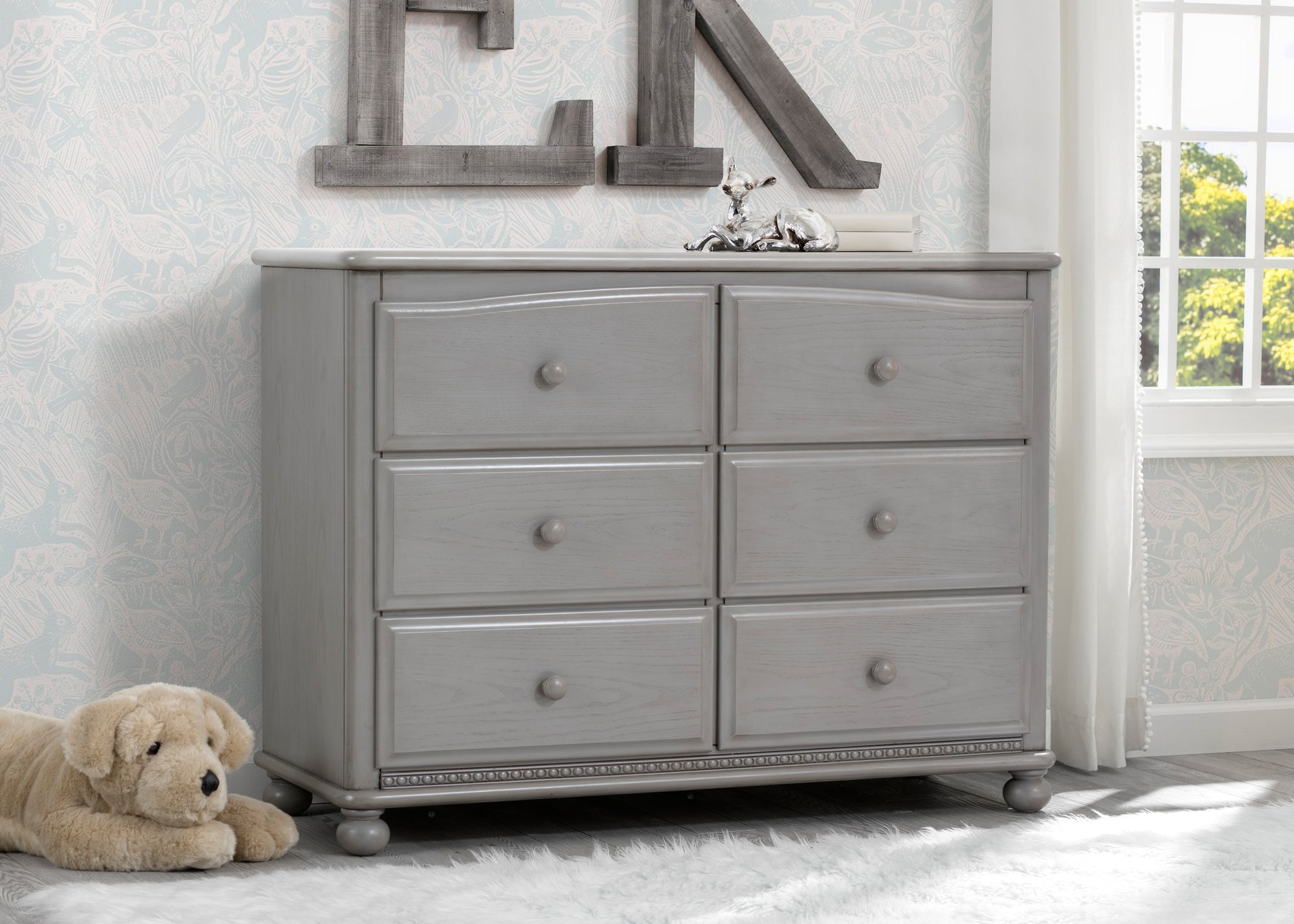 Simmons Kids Storm (161) Cortona 6 Drawer Dresser, Room Shot, b1b
