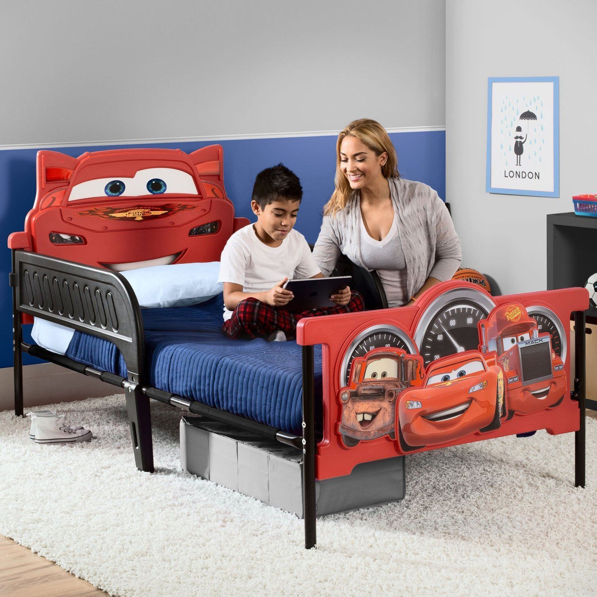 Cars Plastic 3D Twin Bed