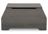 Delta Children Crafted Grey (1333) Nolan Toybox (W101450), Front View, c4c