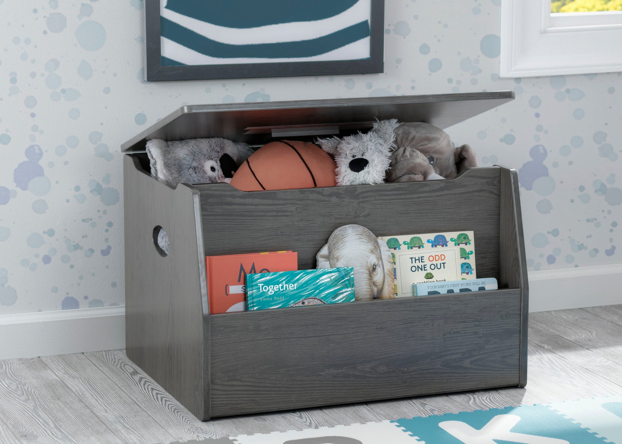 Delta Children Crafted Grey (1333) Nolan Toybox (W101451), Right Silo, c1c