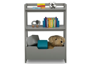 Delta Children Grey (026) Gateway Small Laddershelf (W101452), Front Silo with Props, a3a