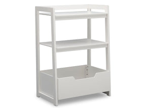 Delta Children Bianca White (130) Gateway Small Laddershelf (W101452), Right Facing Silo, b2b