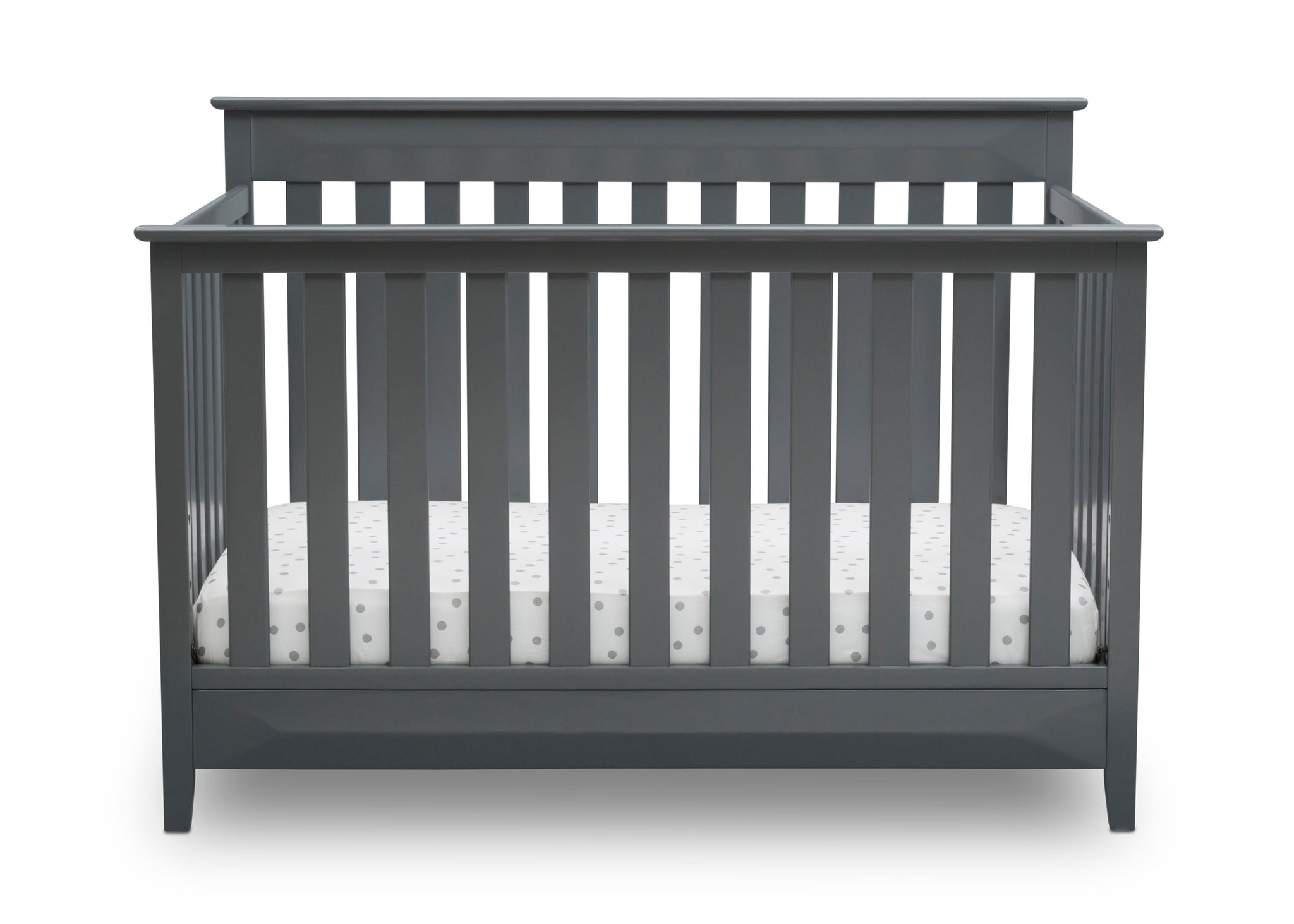 Delta Children Charcoal Grey (029) Cameron 4-in-1 Convertible Baby Crib Front View a3a