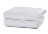 Delta Children White (100) Fitted Bassinet Sheet Set – 2 Pack Folded View