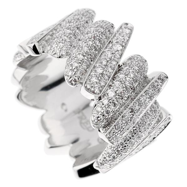 Fred of Paris Pave Diamond White Gold Ring Size 7