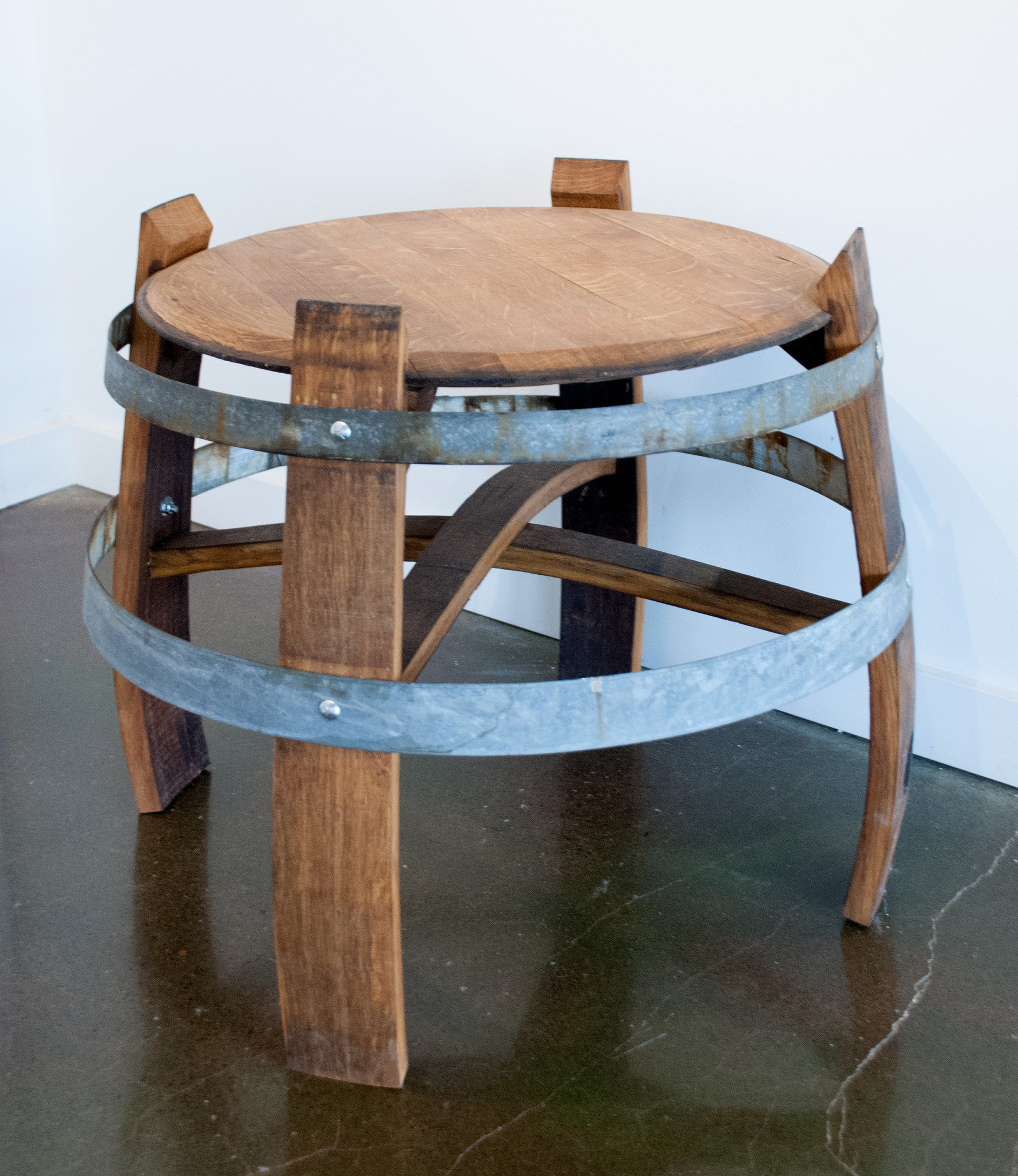 Short Wine Barrel Table