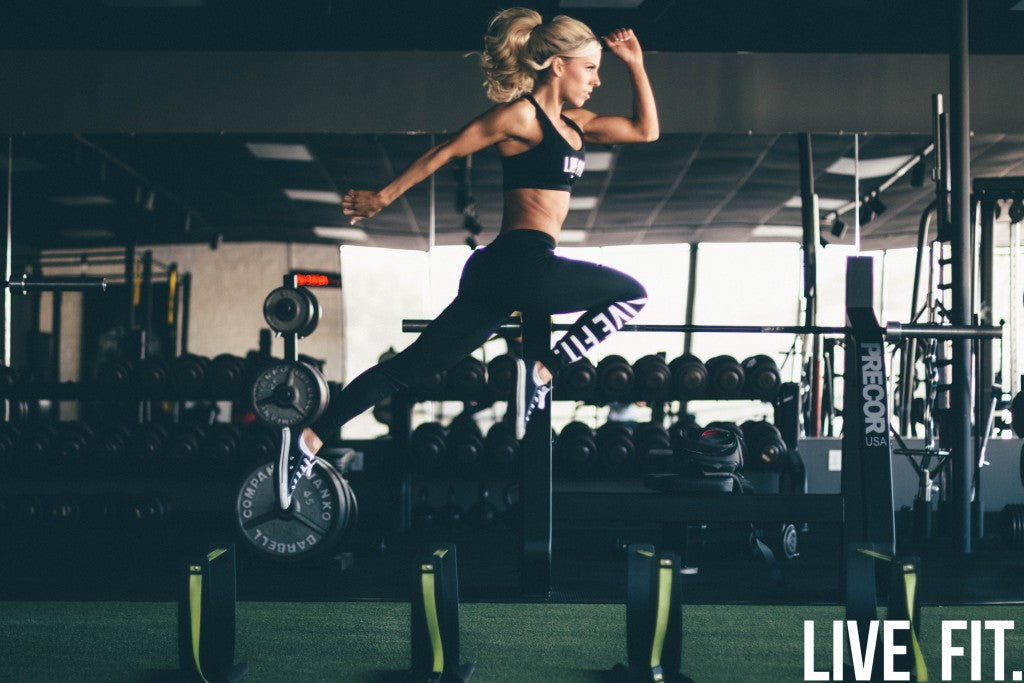 Heidi Somers Works Out With Live Fit.