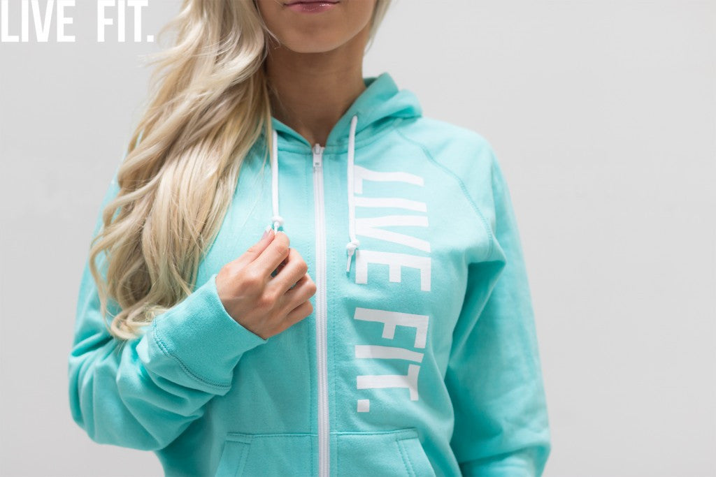 Ladies Live Fit Zip Ups Drop Today At Midnight.