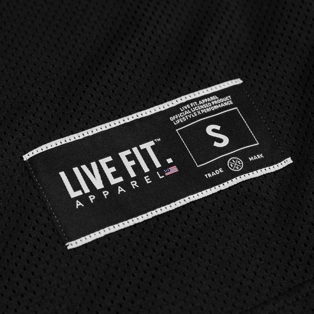 Live Fit Apparel Baseline Jersey - Black / Red - LVFT