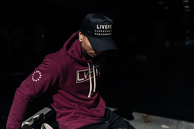 Live Fit Apparel International II Hoodie - Burgundy - LVFT