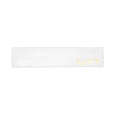 Live Fit Apparel Gold Edition Headband - White - LVFT