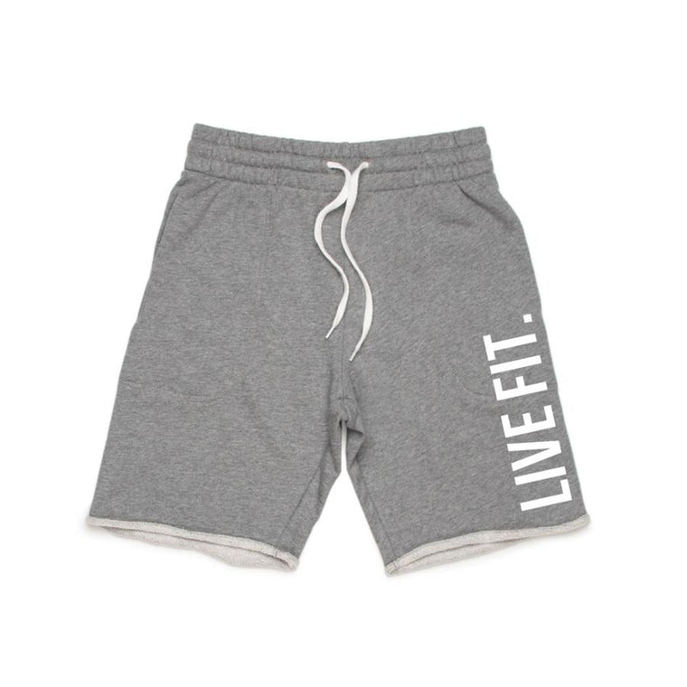French Terry Live Fit short - Heather grey