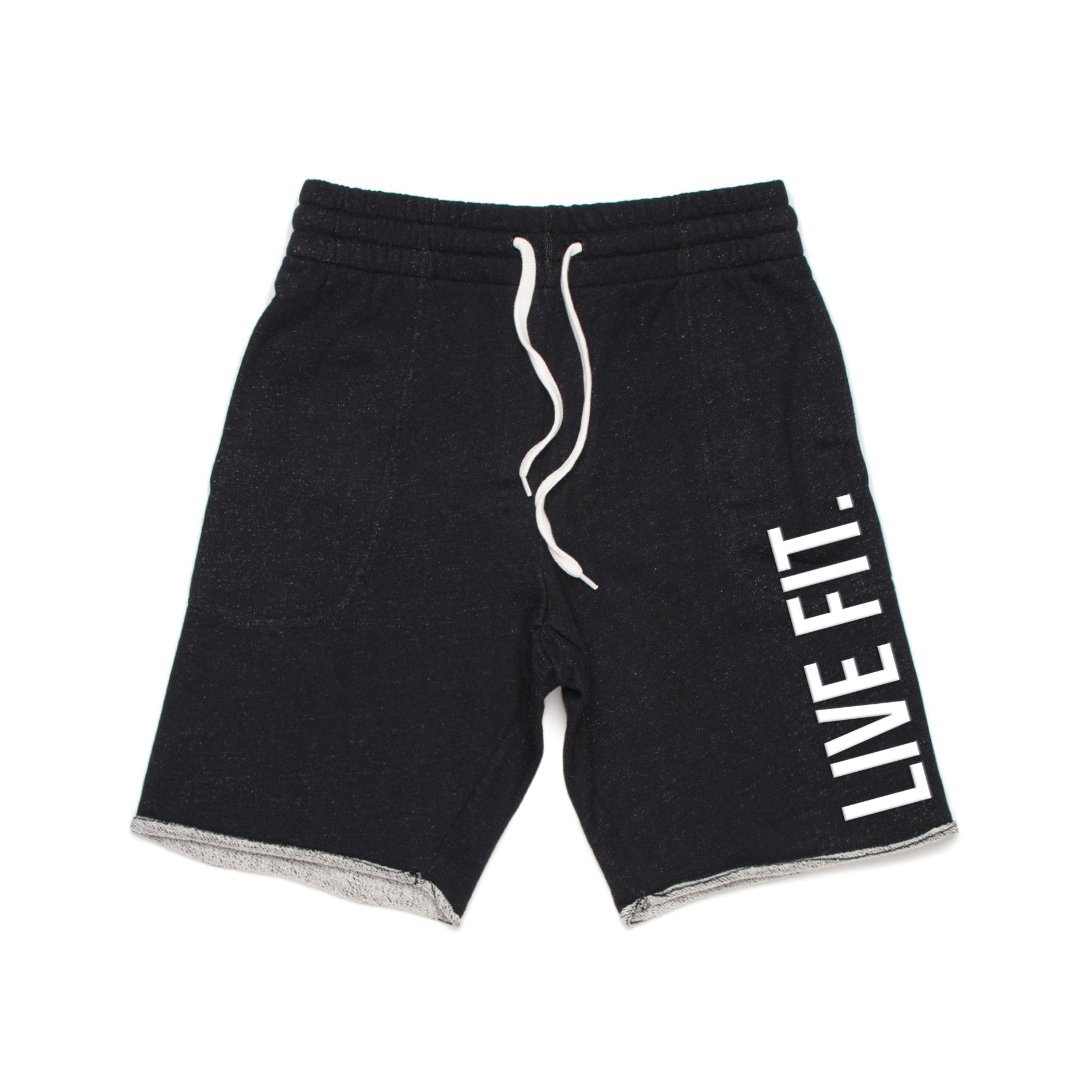 French Terry Live Fit short - Black Heather