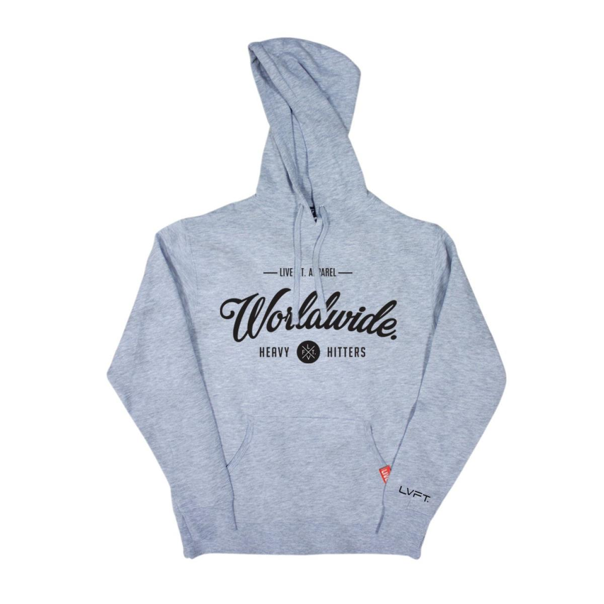 worldwide hitters hoodie heather grey