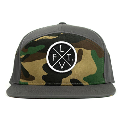 Prestige 7 Panel Cap - Grey / Camo