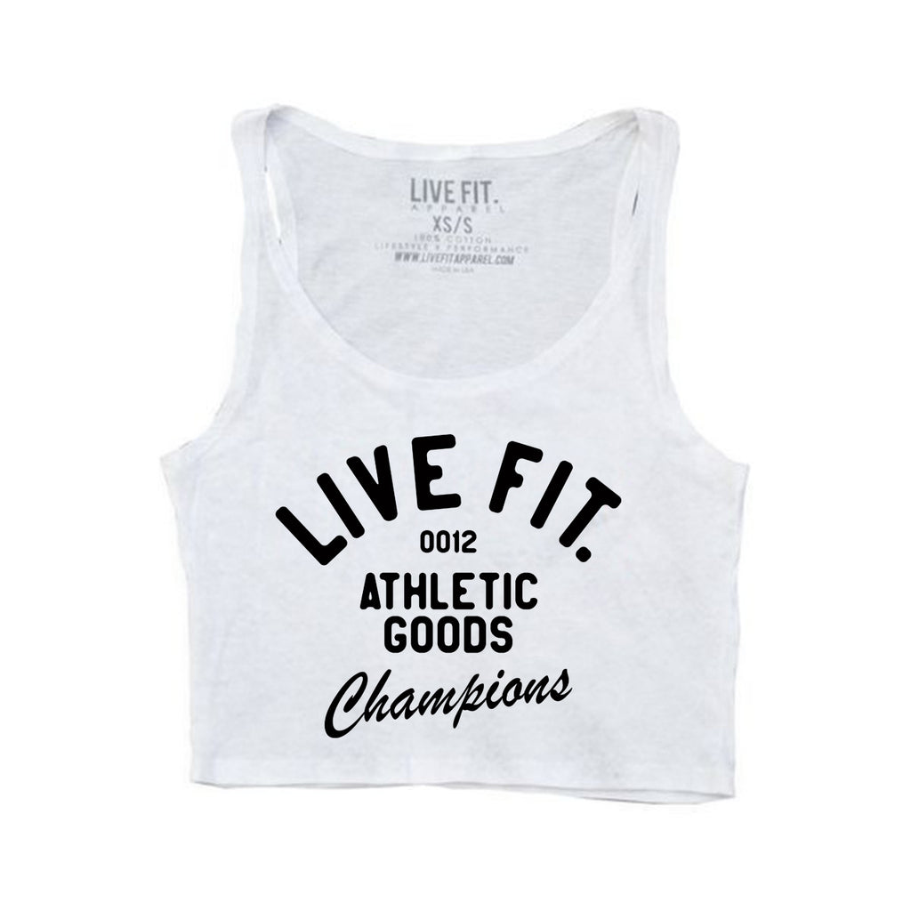 Athletic Goods Crop Top - White