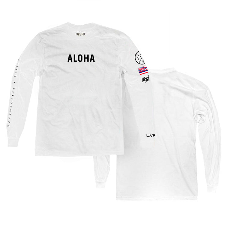 Aloha Lifestyle Long Sleeve - White