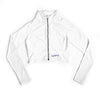 Aerial Crop Zip-Up - White