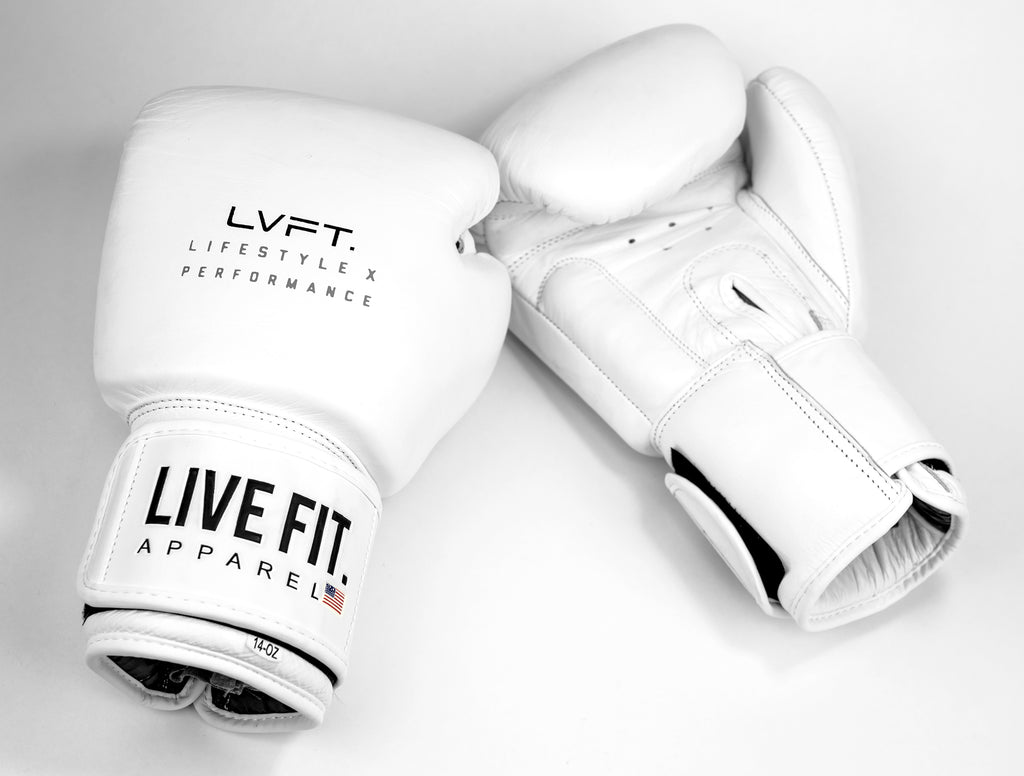 Boxing Gloves - All White Premiums