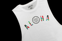Aloha Long Cut Off- White
