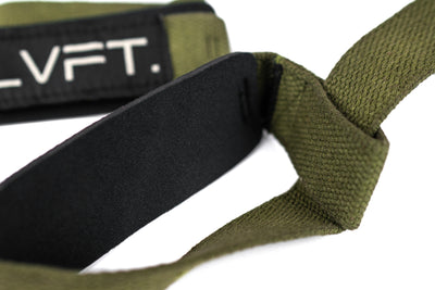 Live Fit Apparel Lifting Straps - Olive - LVFT