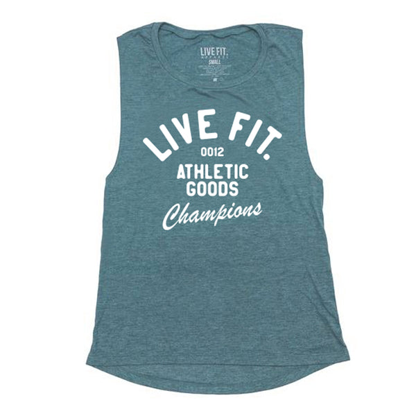 Athletic Goods Muscle Tank - Heather Deep Teal