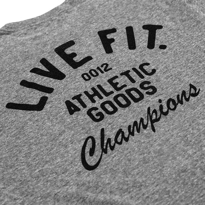 Live Fit Apparel Athletic Goods Tee - Charcoal Heather - LVFT