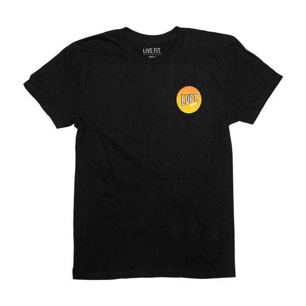 Retro Tee- Black/Orange