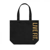Live Fit Apparel - Live Fit Tote Bag - Black / Gold - LVFT